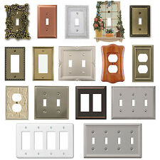Wall Switch Plate Cover Outlet Toggle Decora Rocker Duplex Nickel Wallplate NEW