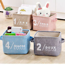 4 Color Storage Bin Closet Toy Box Container Organizer Home Fabric Cube Basket