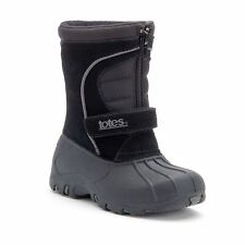 Totes Kids Toddler Boys TRAVIS Black Winter Boots Waterproof Shel Sz 7 or 8 NIB