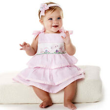Mud Pie Baby BUNNY SMOCKED DRESS 176085 Cottontail Collection