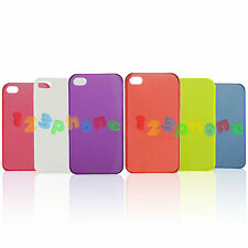BRAND NEW ULTRA SLIM THIN PLASTIC HARD BACK COVER CASE FOR IPHONE 4 / 4S