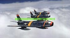 USAF  North American F-86 Sabre Photo Military Color  War F 86