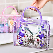 New Clear PVC Flower Waterproof Makeup Toiletry Travel Wash Cosmetic Bag Pouch