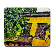 Yellow House In Athens Greece KPA Mouse Mat Pad Mousepad