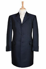 MENS NAVY BLUE SWIRL WEDDING DRESS 3/4 LENGTH PRINCE EDWARD JACKET AND PAGE BOYS