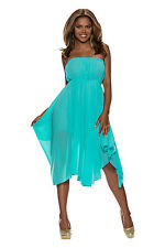 5202 Cocktail dress in Bandeau style Chiffon Dress in 4 colors