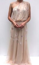Frock & Frill Nude sequin One Shoulder sequin Wedding Maxi Dress 16 44 US 12 New