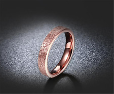 Rings Rose Gold Steel Band Weeding Engagement Romantic Lady's Rings Stainless