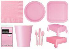 LOVELY PINK Party Tableware Disposable Birthday Supplies Event Decorations