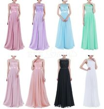 Womens Wedding Bride Toast Long Dress Bridesmaid Lace Party Gown Prom Maxi Dress