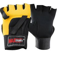 Gel Weight Lifting Gloves Training Gym Fitness Bodybuilding Workout Mesh Straps