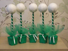 5 x emerald green hand crafted sweet trees birthdays partys weddings