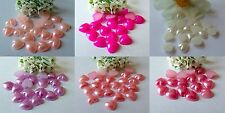 120 5mm Flat Back Pearl Acrylic Hearts Scrapbooking and Card Making
