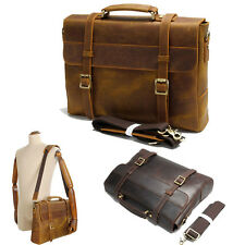 Men's Synthetic Leather Briefcase Attache Case Messenger Shoulder Bag Daypack