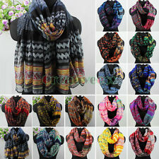 Fashion Women's Bohemian Floral Print Infinity Loop Cowl Casual Ladies Scarf New