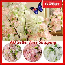 5x Artificial Bouquet Fake Cherry Blossoms Silk Flower Wedding Party Home Decor