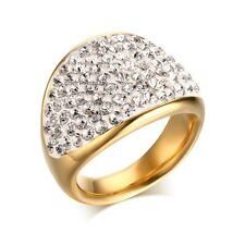 Size 6,7,9 Chic AAA Stainless Steel White Sapphire Womens Gorgeous Wedding Rings
