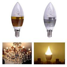 Economy E14 3W Warm White Dimmable LED Light Bulb Lamp 85-265V Candle Spotlight