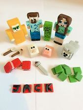 Minecraft cake toppers edible personalised (unofficial)