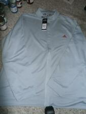NEW MENS ADIDAS ATHLETIC GRAY FULL ZIP JACKET GOLF L XL LONG SLEEVE MSRP $70