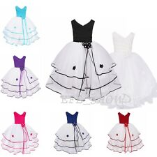 Flower Girl Dress Kids Princess Formal Party Prom Wedding Tutu Dress Brodesmaid
