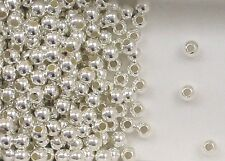 "925 Sterling Silver 4mm Seamless Round Spacer Beads, .067"" Hole, Choice Quantity"