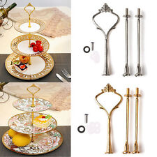 2/3 TIER CAKE PLATE CROWN HANDLE FITTING ROD WEDDING PARTY DISPLAY STAND Stylish