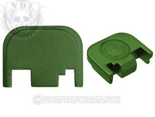 Fits Glock 17 19 21 22 23 27 30 34 36 41 Slide Plate Green With Lasered Images