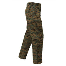 DIGITAL Woodland Camo Cargo Pants BDU Military Army USMC Marines MARPAT Hunting