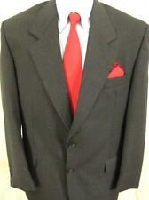 Mens Moores 2 Button Grey Wool Stripe Sport Coat Blazer Suit Jacket 40S