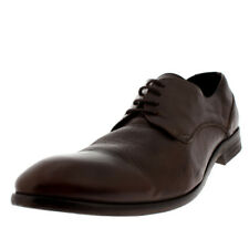 Mens H By Hudson Dylan Brown Leather Smart Lace Up Formal Derby Shoes UK 6-12