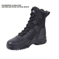 "Black 8"" Tactical WATERPROOF & INSULATED BOOTS Military USMC Army SWAT Police"
