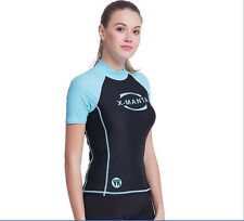 Womens Wetsuit Surf Sunscreen Diving Suit Scuba Snorkelings Water Sports Tops