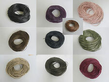10/20 Meters Natural Color Soft Crafts 2mm Round Genuine Leather Jewelry Cords