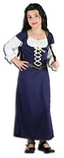 Girls Maid Marion Medieval Tudor Costume Robin Hood Fancy Dress Outfit New 6-8