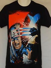 NEW Captain America Vs. Wolverine X-Men T-Shirt MEN'S Marvel COMICS Tee AVENGERS