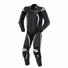 Alpinestars GP Tech 2015 1-Piece Leather Suit Black/White