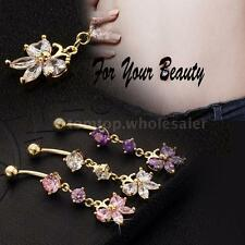 Sexy Butterfly Crystal Belly Button Navel Ring Nail Body Piercing Jewelry R5P5