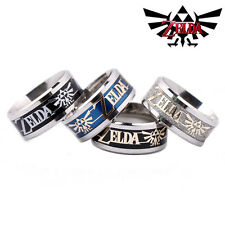 The Legend of Zelda Triforce Enamel Stainless Steel Band Ring Cosplay Jewelry