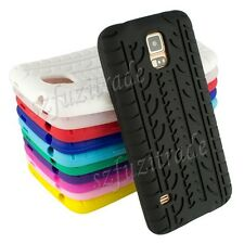 TYRE TIRE SILICONE RUBBER GEL CASE COVER SKIN for SAMSUNG GALAXY S5 V i9600 OE