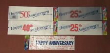 Happy Anniversary Celebration Party Banners 25th 40th 50th Anniversary X2