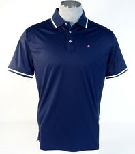 Tommy Hilfiger Golf Navy Blue Short Sleeve Polo Shirt Mens NWT