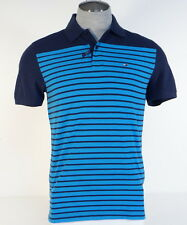 Tommy Hilfiger Classic Fit Blue Stripe Cotton Short Sleeve Polo Shirt Mens NWT