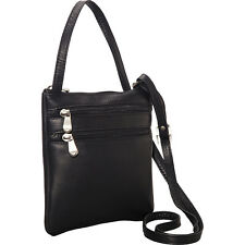 Le Donne Leather Two Zip Crossbody Minibag 4 Colors Cross-Body Bag NEW