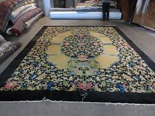 Antique CHINESE PEKING Art Deco Hand Knotted Wool Rug