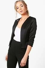 Boohoo Womens Lucy Crop Fitted Blazer