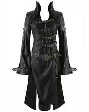 Punk Rave Black Shadow Jacket Womens Goth Steampunk Faux Leather Coat