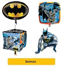 "BATMAN FOIL BALLOONS (SuperShape/Kids/Birthday/Party/Foil/18""/Latex)"