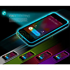 LED Flash Call Light UP Remind Incoming Case Skin Cover For iPhone 7 6 6s 5s SE