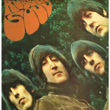 BEATLES Rubber Soul LP VINYL UK Parlophone 14 Track Stereo Black/Silver 2 Emi